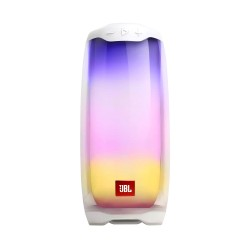 JBL Pulse 4 Portable Bluetooth Speaker with 360-Degree LED Lightshow,12Hours Playtime, PartyBoost & IPX7 Waterproof (White)