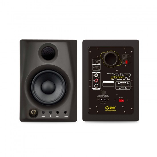 Monkey Banana Gibbon AIR 4 inch Powered Studio Monitors with Bluetooth - Black