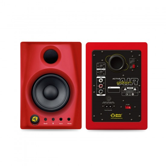 Monkey Banana Gibbon AIR 4 inch Powered Studio Monitors with Bluetooth - Red